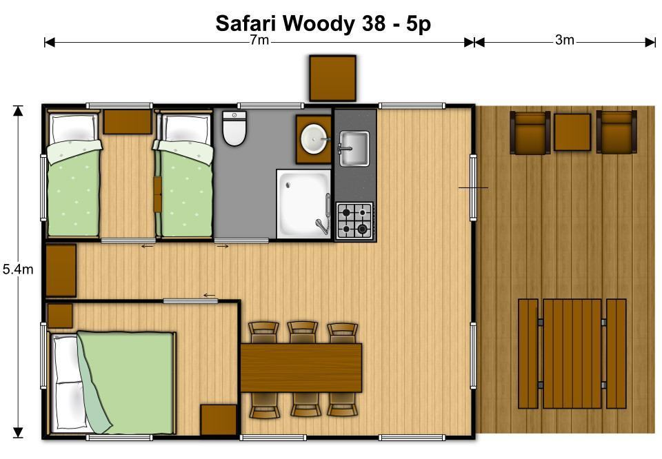Safaritent Woody 38